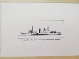 Depot Ship, small, b&w