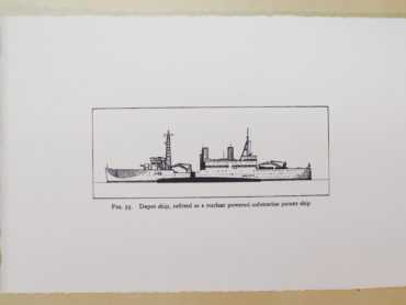 Depot Ship, small, b&w