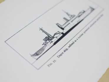 Depot Ship, large, b&w